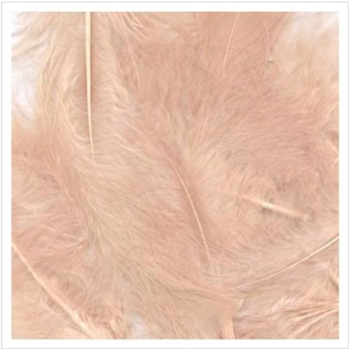 Eleganza Craft Marabout Feathers Mixed sizes 3inch-8inch 8g bag Rose Gold No.87